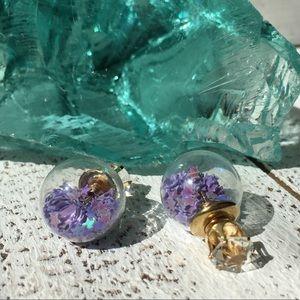 Jewelry - Purple Star Double Stud Earrings